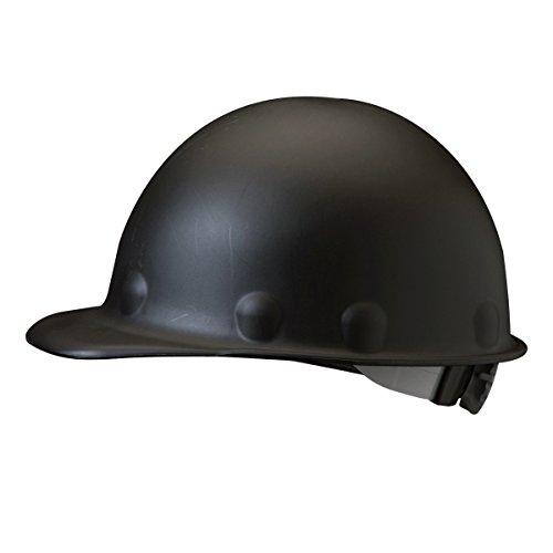 Fibre Metal Hard Hats (Fibre-Metal Hard Hat Injection Molded Roughneck Fiberglass with 8-Point Ratchet Suspension, Black)