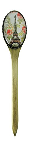 Value Arts Paris Eiffel Tower Letter Opener, Brass and Glass, 7.25 Inches Long