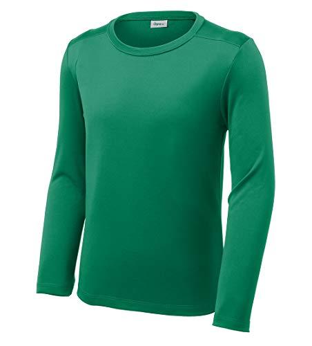 Shirt Kids Girls Kellys - Opna Youth UPF 50+ UV Sun Protection Long or Short Sleeve Boys Girls T-Shirt Athletic Outdoor Kelly Green