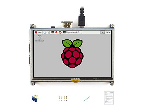 Waveshare Raspberry Pi LCD Display Module 5inch 800480 TFT Resistive Touch Screen Panel HDMI Interface for Any Model of Rapsberry-pi A/A+/B/B+/2 -