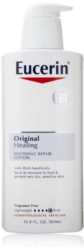 Eucerin Lotion Original Healing 16.9 Ounce Pump (500ml) (2 Pack) (No Pump Lotion)