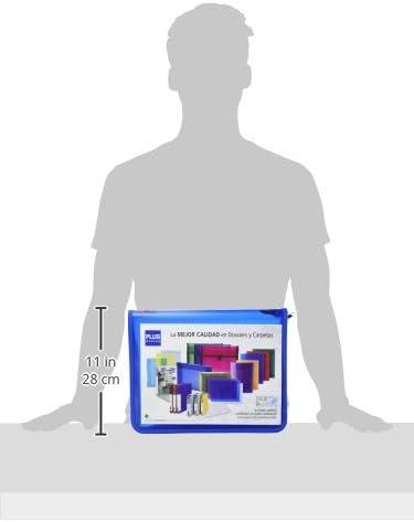 Office Plus za-401bl/ blu /Cartella con zip formato A4