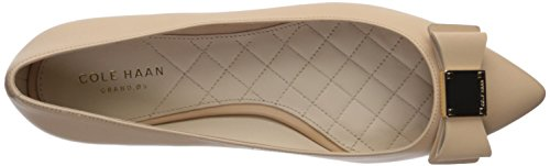 Cole Haan Womens Tali Bow Skimmer Ballet Flat Nude Leather