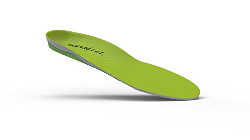 Superfeet GREEN Full Length Insole, Green, F: 12.5+ US Womens / 11.5 - 13 US Mens