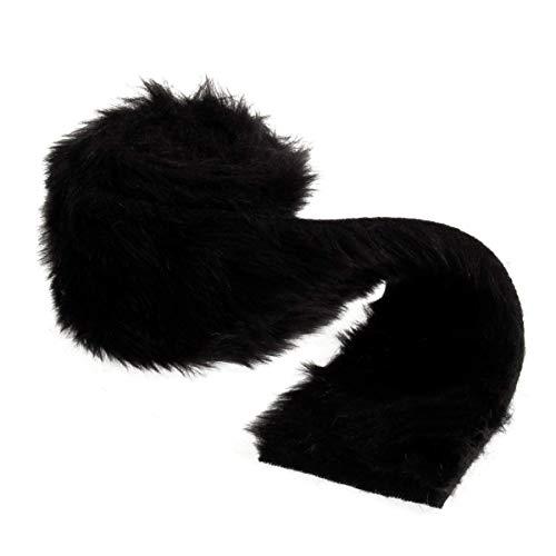 Groves Faux Fur Trim: 2m x 80mm: Black