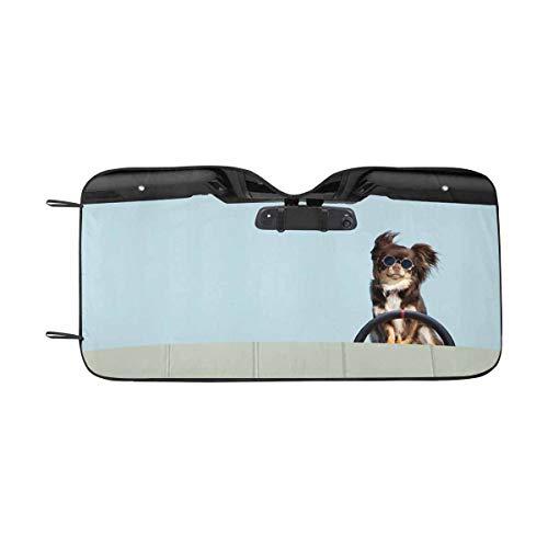 - Honey Day House Custom Dog Cat Pet Automotive Windshield Sunshades Auto Sun Shade for Car