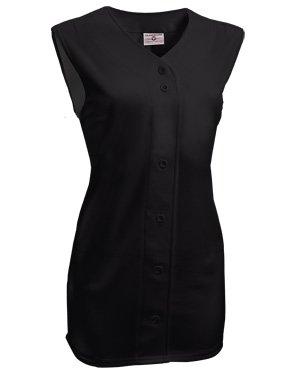Women's On Deck Sleeveless Faux Full Button Down Jersey - Down Button Jersey Sleeveless