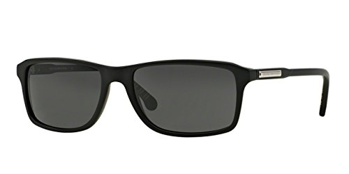 Brooks Brothers BB5019 Sunglasses 606487-57 - Matte Black Frame, Grey - Sunglasses Brooks Brothers