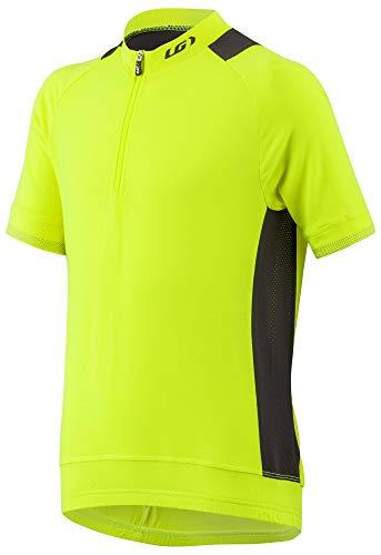 (Louis Garneau Kids Lemmon Lightweight, Reflective, Short Sleeve Cycling Jersey, Bright Yellow, Junior X-Small)