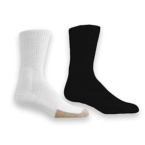 (Thorlo TX-11 Crew Tennis Socks (Black,Medium))