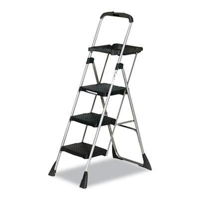 Cosco - Max Work Platform Project Ladder 225Lbs Duty Rating 22Wx31dx55h Steel Black Product Category: Breakroom And Janitorial/Step Stools & Ladders by Cosco