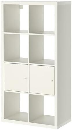 Ikea Kallax–Estantería con Puertas, Blanco–77x 147cm
