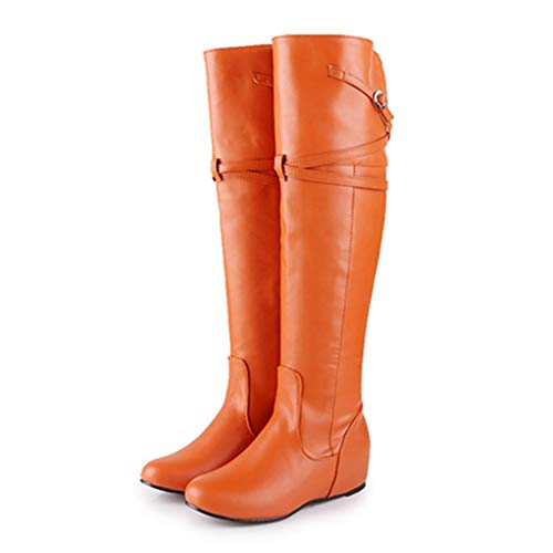 [해외][シュウカ] 롱 부츠 여성용 인 힐 벨트 흑백 엔지니어 부츠 자키 부츠 오토바이 부츠 큰 안락한 덜 피로 로우 힐 미각 사이드 지퍼 / Long Boots boots women`s heels belt black and white engineer boots jockey boots Bike boots large size easy...