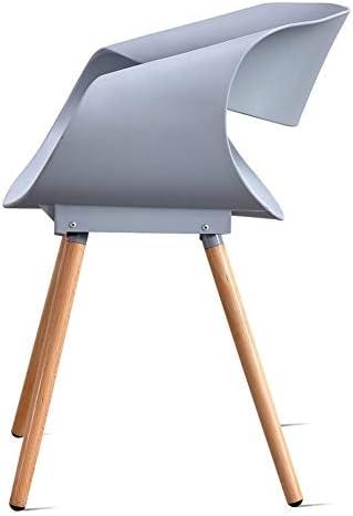 LJLJX Chaise en plastique style Euro moderne Tabouret de salle à manger moderne pour extérieur, jardin, terrasse, balcon, bureau, cuisine, C