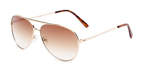 Readers.com Sun Reader: The Conrad Reading Sunglasses Metal Aviator Style for Men and Women - Gold with Amber, 1.25 (Sun-glasses.com)