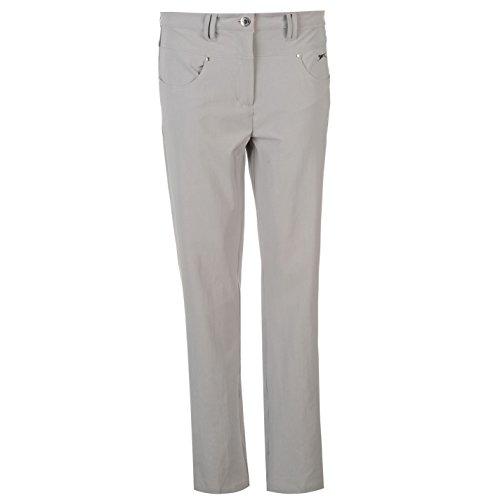 Slazenger Damen Golf Hose Sporthose Strass Detail Taschen Sport Bekleidung Grau 12 (M)