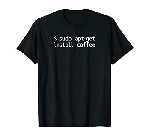 Linux Shirt Sudo Apt-Get Coffee Funny Tech Humor Linux Shirt
