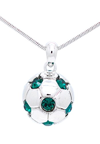 SOCCER BALL NECKLACE WITH NUMBERS - NAME YOUR OWN NUMBER - PICK YOUR OWN COLOR -