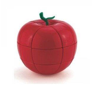 Apple Puzzle - Little Treasures 3x3x3 Stickerless Red Apple Magic Cube Fruit Shaped Puzzles
