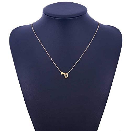 PopularBP Personalized Love Alphabet Letter Pendant Necklace Initials Glamour Female Jewelry,D ()