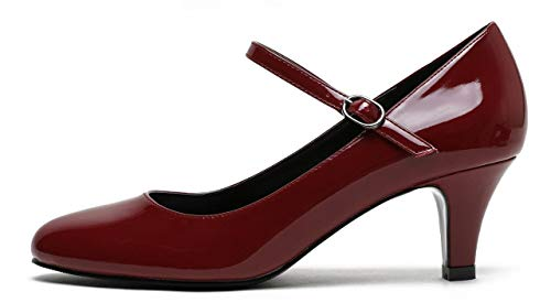 Bride Cheville Femme Patent Wine Pu Camssoo Red Ra41qWUxU