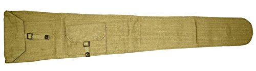 - Enfield # 1 MK 3 Canvas Rifle Cover (Case) w/Khaki Sling Carry Strap, WWII Pattern