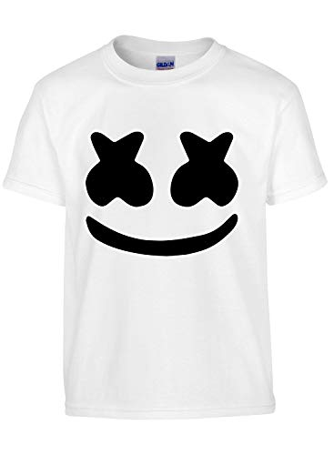 cb123236 Asher's Apparel Marshmello DJ Smiley Face | Youth T-Shirt (YL 14-16