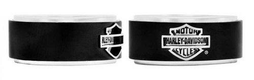 Harley-Davidson Men's Bar & Shield Black Steel Band Ring HSR0001 ()