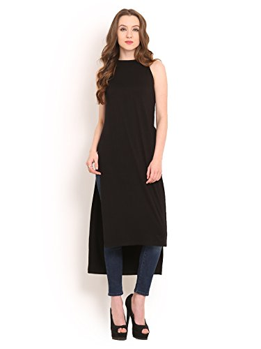 Hi Low Hem Top - Women's Black Maxi Hi Low Hem Long Top Black Medium