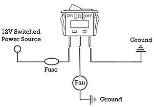 ELECTRIC RADIATOR FAN RED ROCKER FLIP SWITCH KIT WIRING LIGHTED TOGGLE BOAT RV
