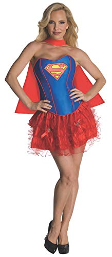Secret Wishes DC Comics Supergirl Corset And Tutu Costume, Red/Blue, X-Small