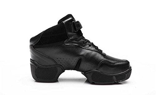en cuir danse WX cuir Chaussures danse hommes souple 42 de de de femmes Chaussures XW moderne jazz pour Chaussures 34 Chaussures et en black wAq0Z4t