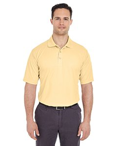 UltraClub 8210 Mens Cool & Dry Mesh Pique Polo Polyester Yellow Haze - Pique Mesh Polyester