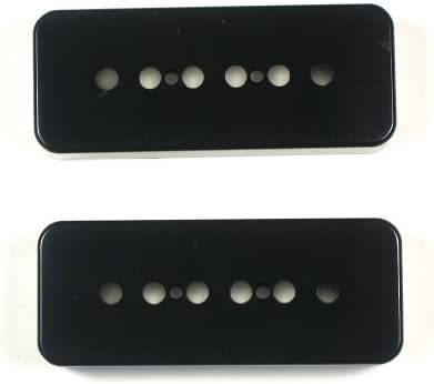 50mm 2 pk P90 Guitar Pickup Bobbins Black