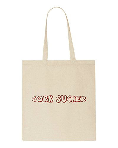 Cork Bag Funny Shopper Statement Themed Tote Alcohol Beige Sucker 1rqwSY1