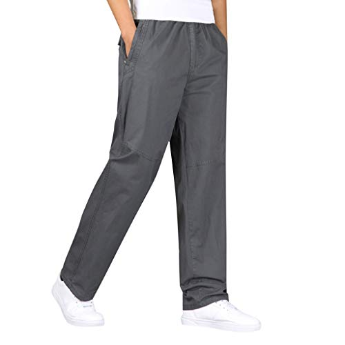 (Men's Large-Size Pure-Color Overalls Outdoor Leisure Comfort Pant, MmNote Dark)