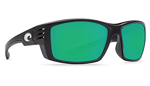 Costa Del Mar Cortez Sunglasses Shiny Black Frame/Green Mirror Glass - Optical Frames Costa