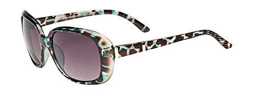 Coppertone Women's Sunglass Readers, Round Reading Glasses, Green Demi, 1.25