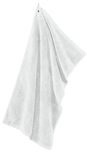 - Port Authority - Grommeted Tri-Fold Golf Towel. >> One size,White