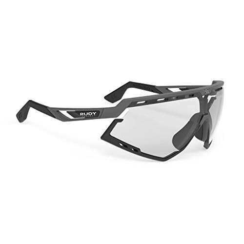 RRudy Project Defender Sports Cycling Sunglasses - Matte Black Frame - ImpactX-2 Photochromic Clear to Black Lenses