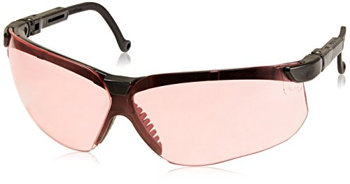 Howard Leight by Honeywell Genesis Sharp-Shooter Anti-Glare Shooting Glasses, Vermillion Lens - Control Sunglasses Glare