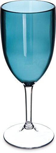 Carlisle EP10015 Epicure Shatter-Resistant Tritan Cased Goblet, 10 oz, Teal ()