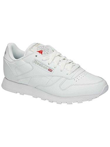 De Lthr Chaussures Femme white Cl Int Reebok Gymnastique HtPq11w