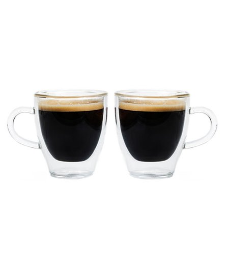 Grosche Turin Double Walled Hand Blown Glass Espresso Cups 140ml 4.7 Oz. Set of 2 Review