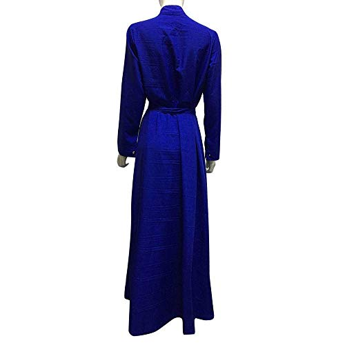 large Abito Mini Donna Lady Blu Solid Maxi Dimensione Abiti Rosa Shirt colore Womens Xx Fuweiencore Lungo Hip Da Wild Lunga Manica Packet Color Risvolto Dress Moda Casual O4wxUn