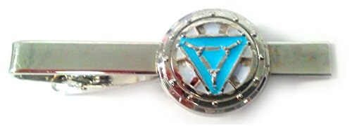 Iron Man Heart Vibranium Reactor Arc Glow Suit Tie Bar Clip - Tony Stark Iron