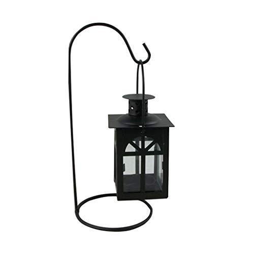 - RGBIWCO - Black/White Moroccan Wedding Light Romantic Candle Holder Retro Hanging Lantern Lamp Decor for Dinner Home
