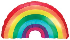 """32"""" Over the RAINBOW Wizard Of Oz My Little Pony GAY Pride Party Mylar Balloon"""