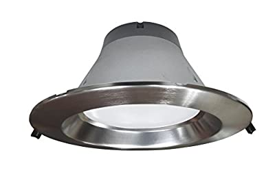 NICOR Lighting Dimmable 3500K Commercial LED Recessed Downlight Retrofit Kit, Nickel (CLR8-10-UNV-35K-NK)
