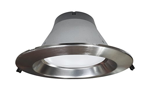NICOR Lighting Dimmable 2300-Lumen 3500K LED Recessed Downlight, Nickel (CLR8-10-UNV-35K-NK) by NICOR Lighting